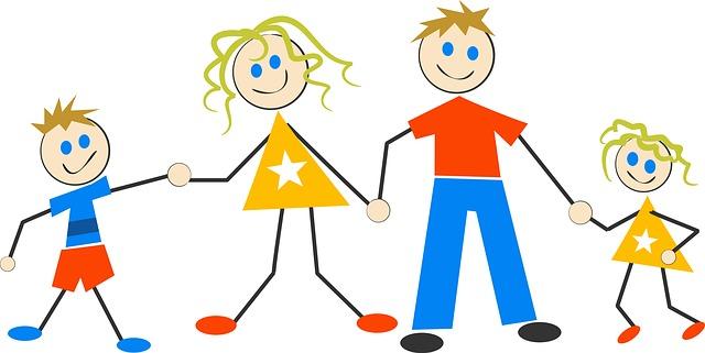 rodina ilustrace