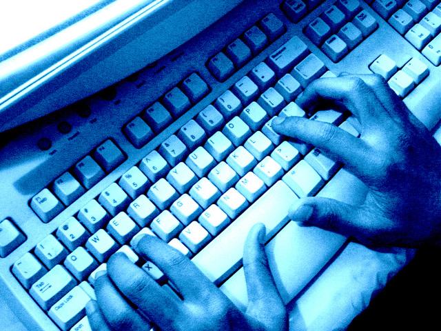 práce na klávesnici