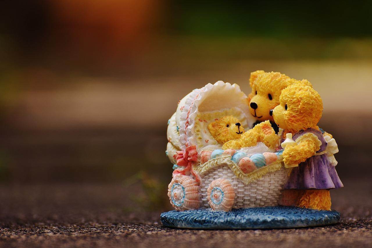 kočárek pro medvídky